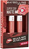 Maybelline New York, SuperStay Matte Ink, Cofre 2 Pintalabios Permanentes...